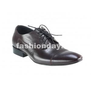 Pánske kožené spoločenské topánky tmavohnedé