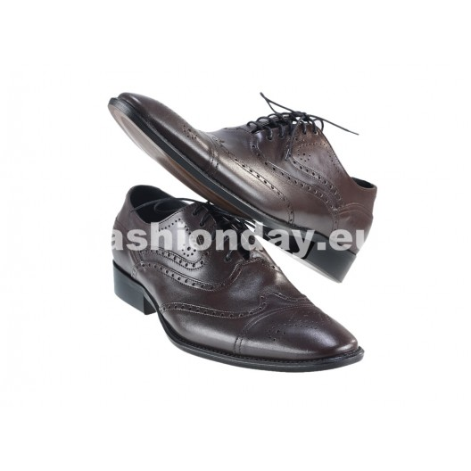 Pánske kožené spoločenské topánky  hnedé PT150