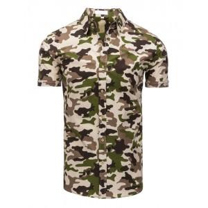 Moderná ARMY pánska košeľa s krátkym rukávom na voľný čas