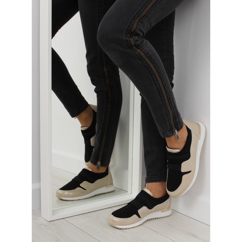 29c1c7cb5701 Zlato čierne dámske tenisky s hrubšou podrážkou - fashionday.eu