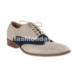 Pánske kožené spoločenské topánky béžové