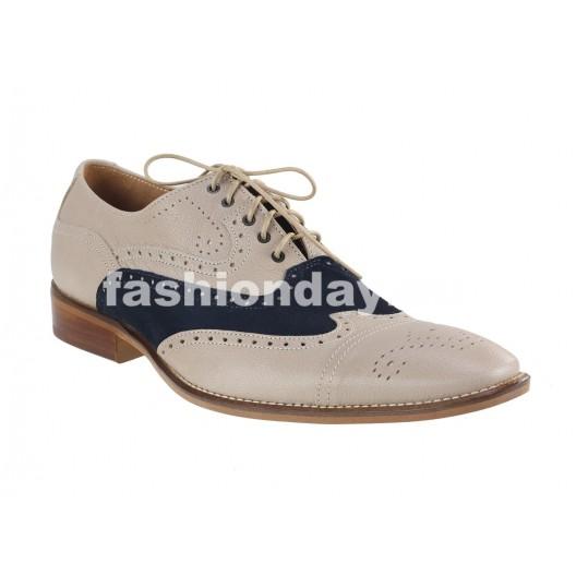 Pánske kožené spoločenské topánky béžové PT153