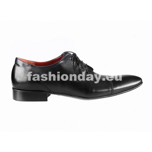 Pánske kožené spoločenské topánky čierne PT154