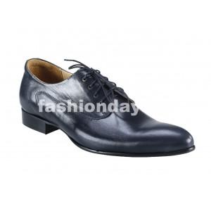 Pánske kožené spoločenské topánky modré
