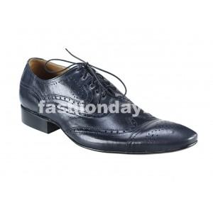 Pánske kožené spoločenské topánky tmavomodré