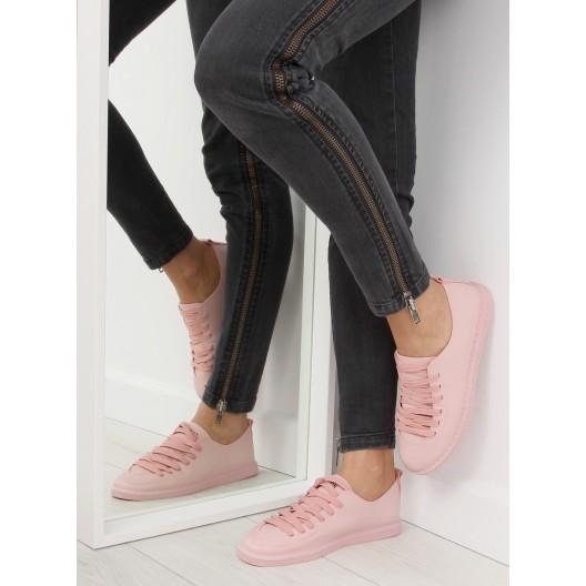 Ružové dámske tenisky na šnúrovanie