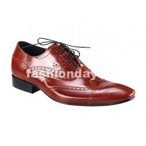 Pánske kožené spoločenské topánky červené