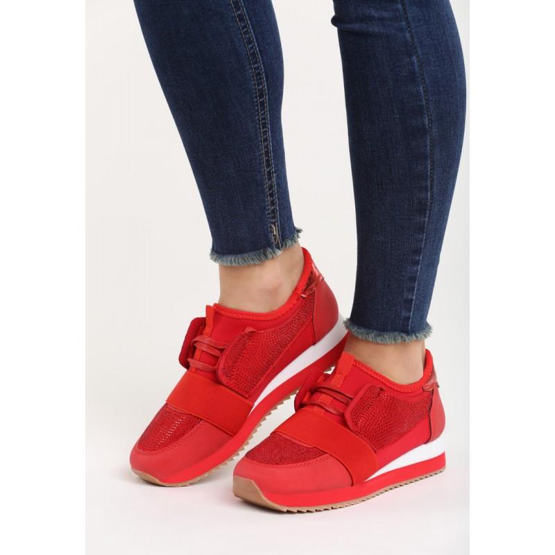 f4b3913822 Moderné dámske tenisky na platforme červenej farby - fashionday.eu