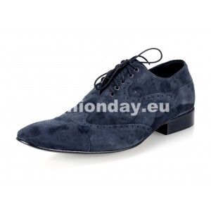 Pánske semišové spoločenské topánky  tmavomodré