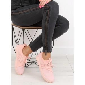 Ružové dámske tenisky s dierkovaným povrchom