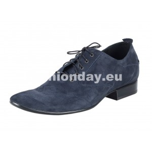 Pánske semišové spoločenské topánky modré
