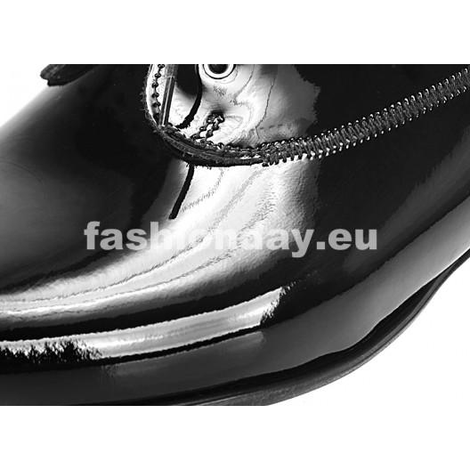 Pánske kožené spoločenské topánky čierne PT168