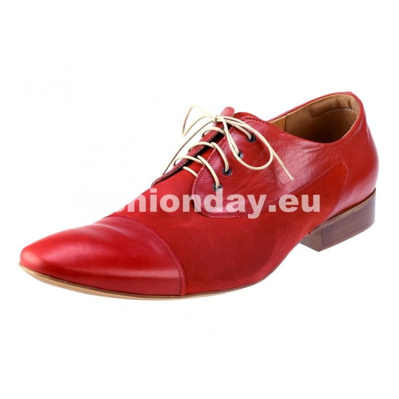 9df8aea383 Pánske kožené spoločenské topánky červené - fashionday.eu