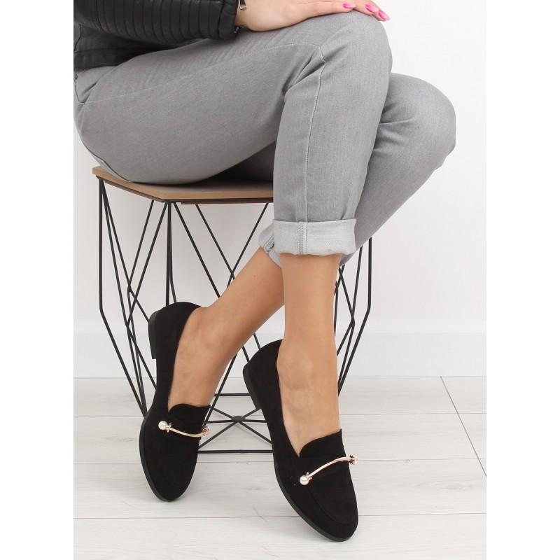 8dc19bfc4de9 Jarné topánky pre ženy s ozdobou a nízkym podpätkom