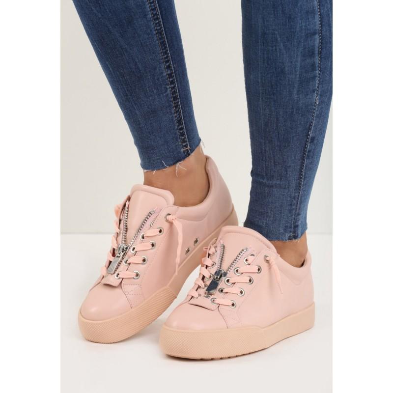 4b7fe7d132 Predchádzajúci. Športové dámske topánky na hrubej podrážke v ružovej farbe  ...