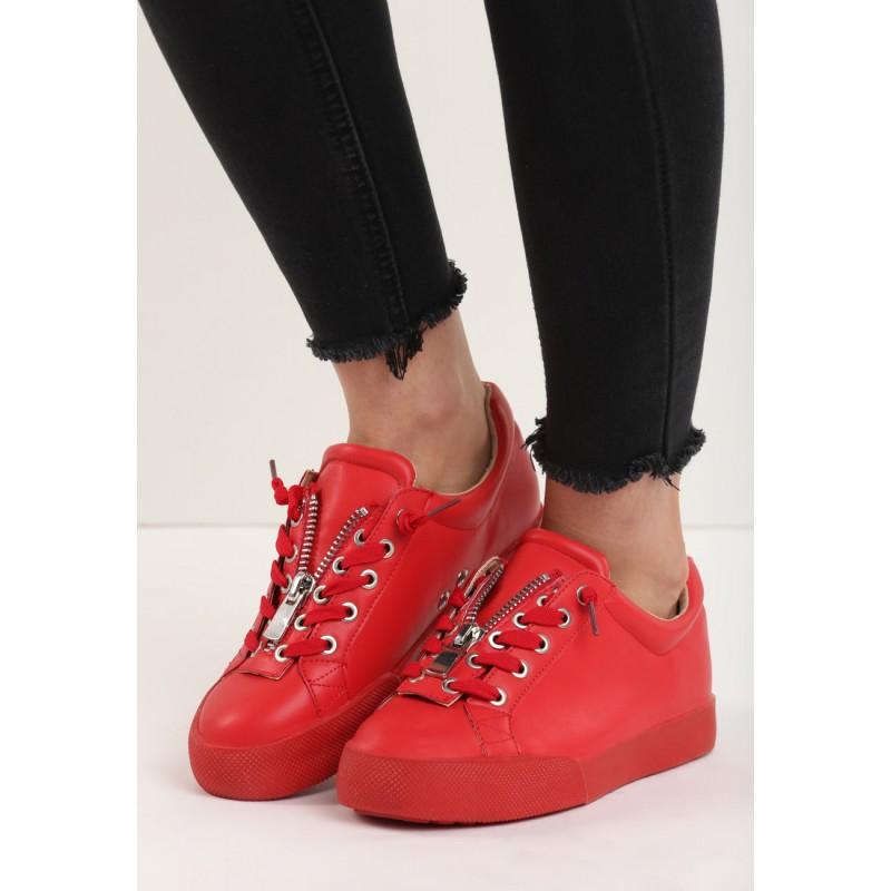 5df84ab5aa10 Predchádzajúci. Dámske letné semišové topánky v červenej farbe ...