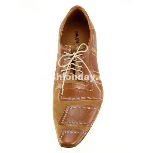 Pánske kožené spoločenské topánky hnedé PT178