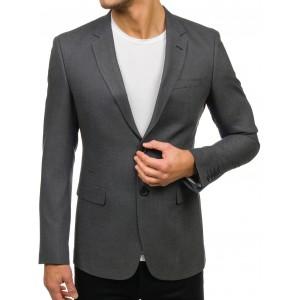 Pánske sako v tmavo sivej farbe vhodné do spoločnosti