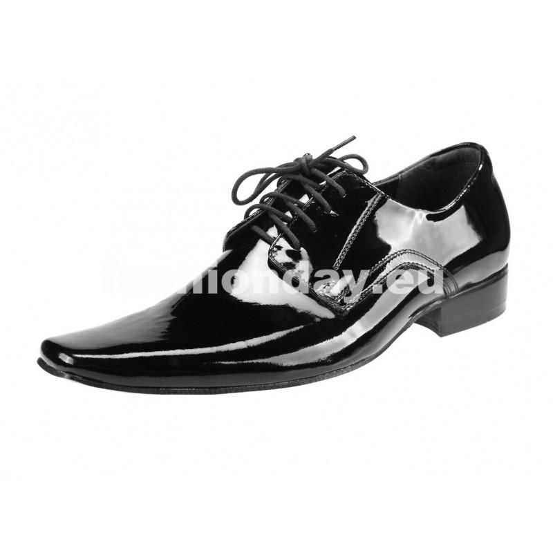 27a6f2010e96 Pánske kožené spoločenské topánky čierne - fashionday.eu