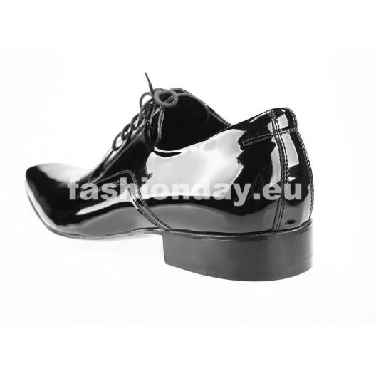 Pánske kožené spoločenské topánky čierne PT184