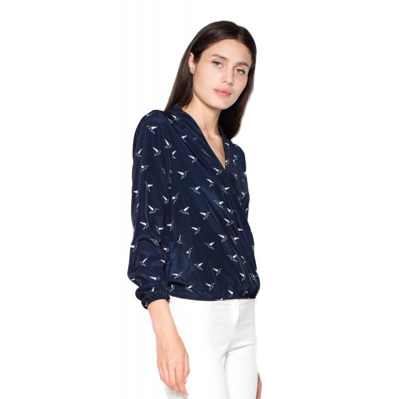 Predchádzajúci. Luxusné dámske košele v tmavo modrej farbe so vzorom ... 7592368030a