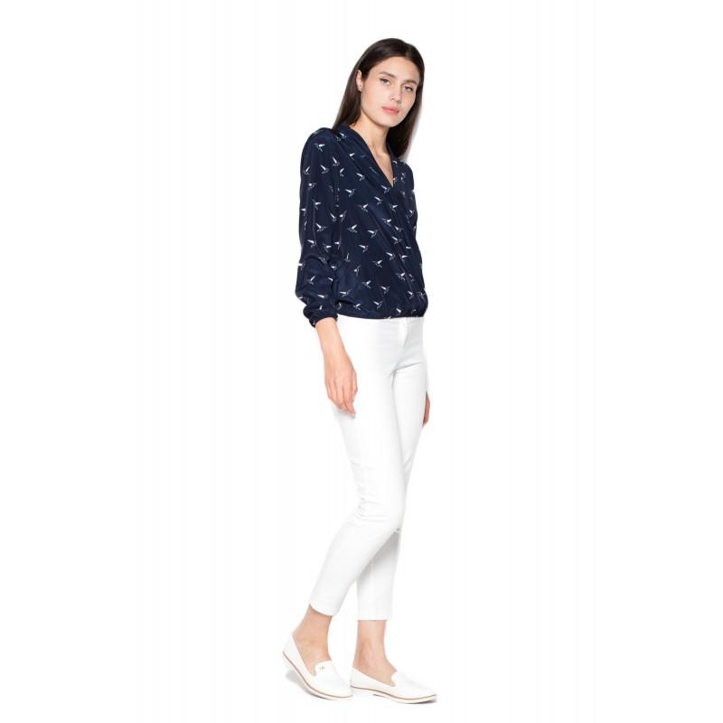 ... farbe so vzorom · Luxusné dámske košele v tmavo modrej ... 7c6c3108415
