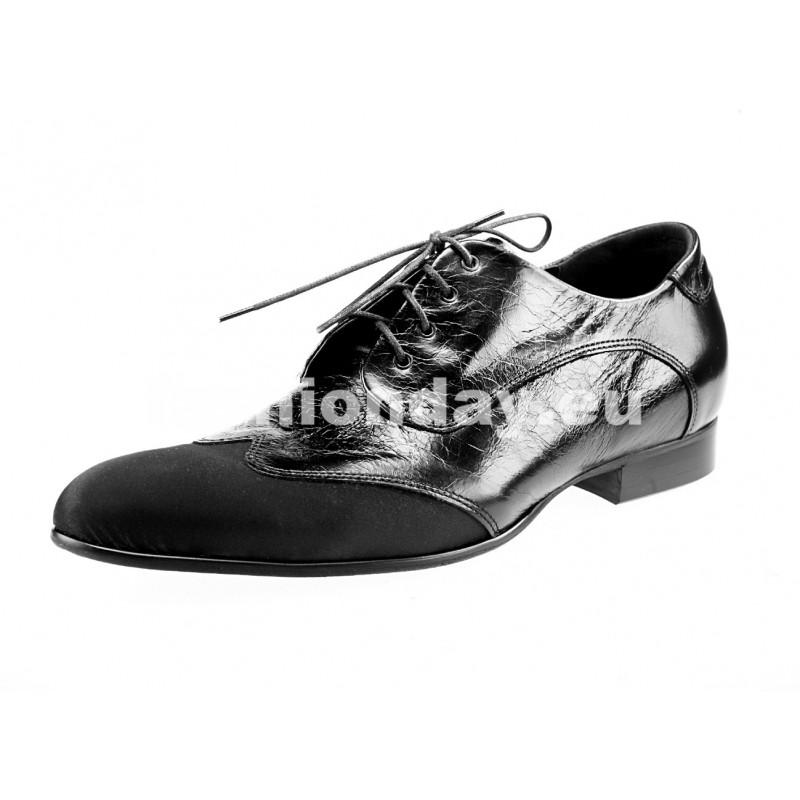 3e94a0e95c18 Pánske kožené spoločenské topánky lesklé čierne - fashionday.eu