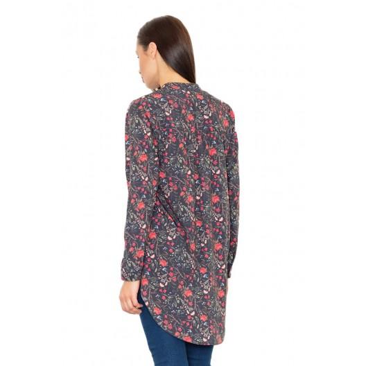Predĺžené košele dámske s kvetinovým vzorom