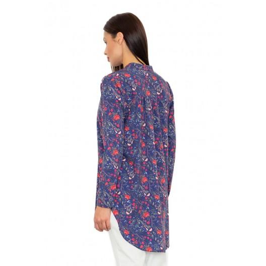 Luxusné dámske košele dlhého strihu s kvetinami