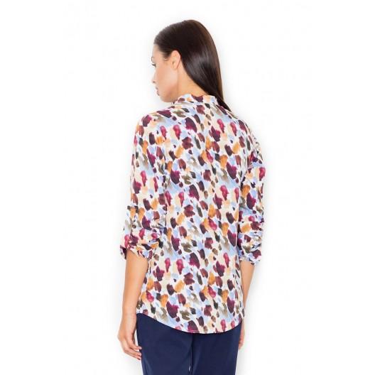 Moderné košele pre dámy s farebným vzorom