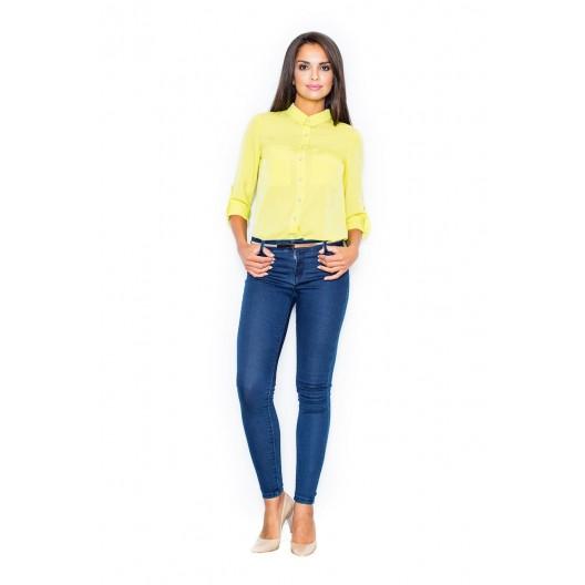 Elegantné dámske košele v žltej farbe na každý deň