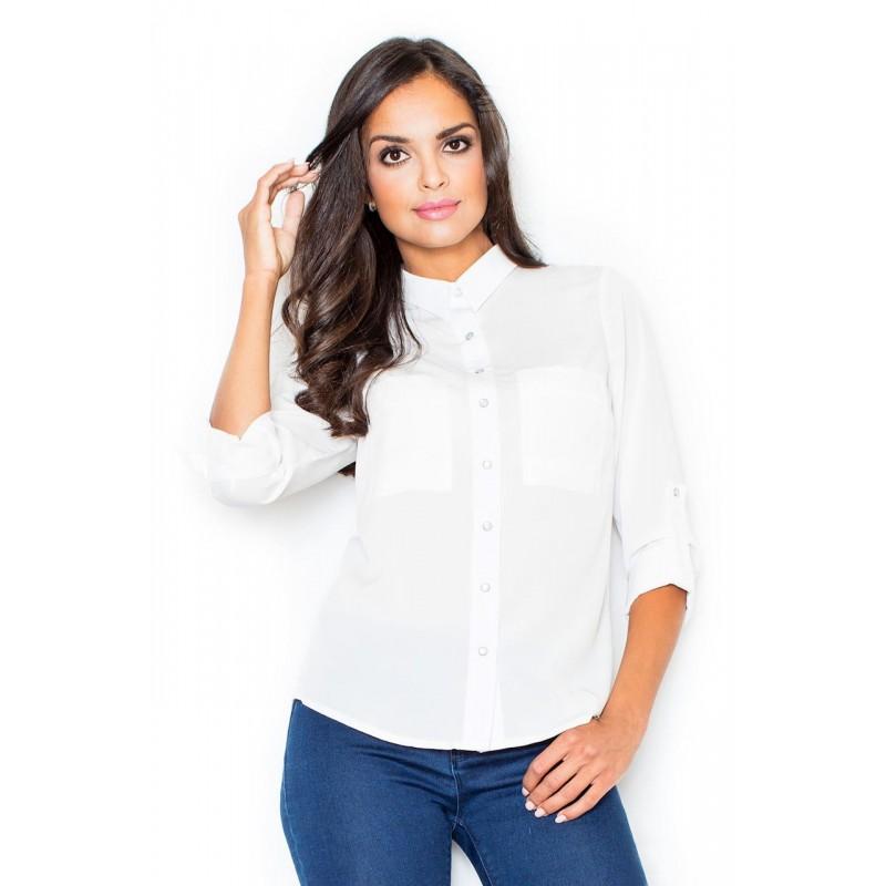f4322db80f0e Luxusné dámske košele bielej farby vhodné do spoločnosti