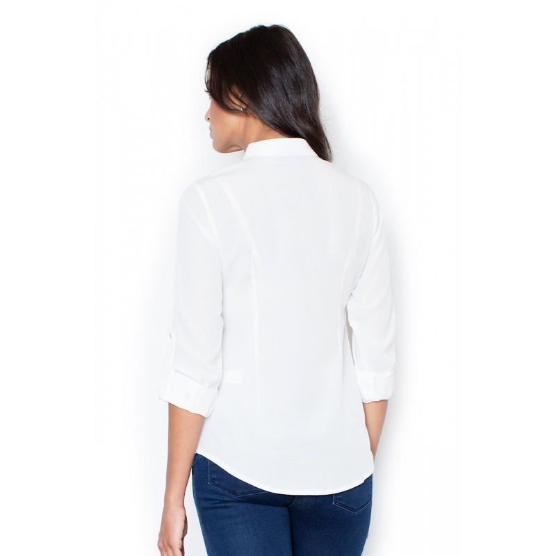ba1af4385741 ... Luxusné dámske košele bielej farby vhodné do spoločnosti