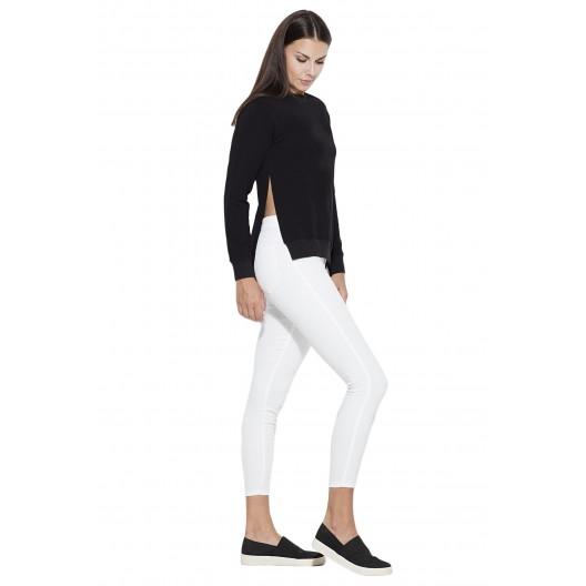 Luxusné blúzky v čiernej farbe s dlhým rukávom pre dámy