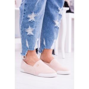 Dámske topánky na jar v ružovej farbe