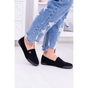 Elegantné topánky v čiernej farbe na jar/jeseň
