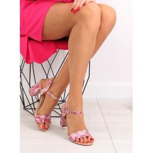 Spoločenské sandále pre dámy v motíve kvetov