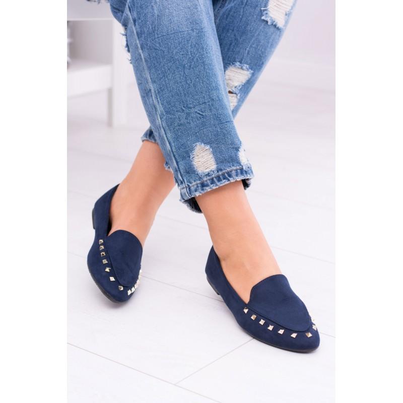 Dámska obuv Dámske poltopánky. Predchádzajúci. Dámske jesenné topánky tmavo modrej  farby ... 99fb1da10e4