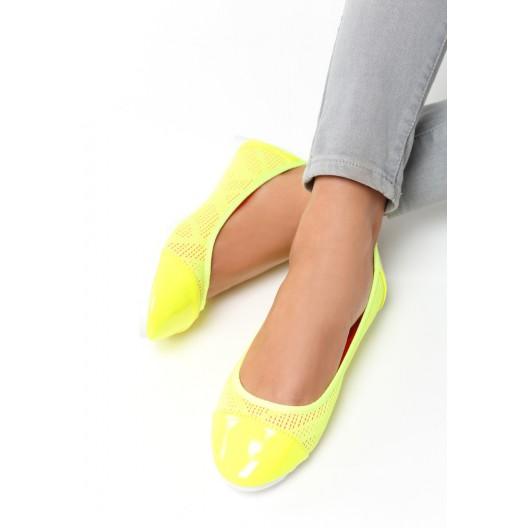 VEĽKOSŤ  41 Dámske balerínky žltej farby
