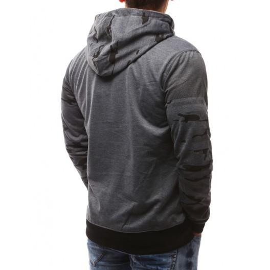 Kvalitné pánske mikiny s kapucňou tmavo sivé