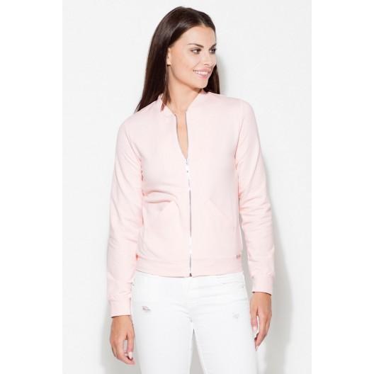 Dámske mikiny bez zipsu v ružovej farbe