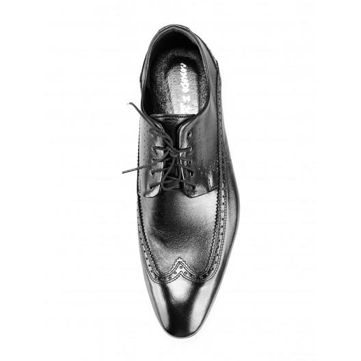 Pánske kožené spoločenské topánky čierne PT198