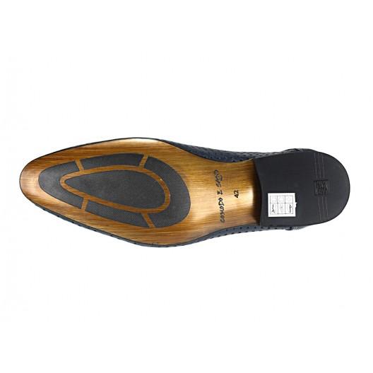 Pánske kožené spoločenské topánky modré 540