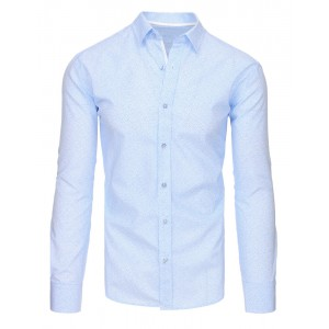 Exkluzívne pánske košele slim fit s modrým vzorom
