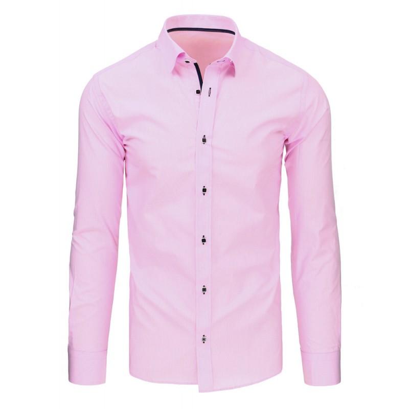 fa1cf05bc068 Pánske košele s dlhým rukávom v ružovej farbe