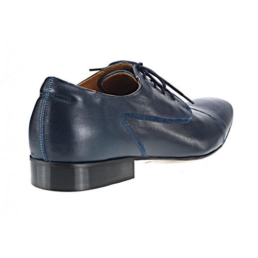 Pánske kožené spoločenské topánky modré 535