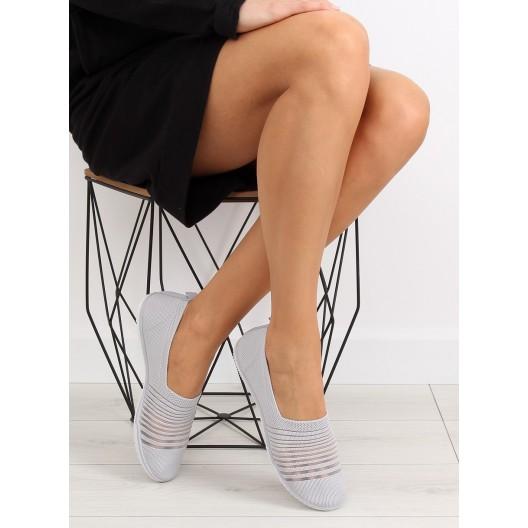 Dámske botasky sivej farby bez šnúrovania