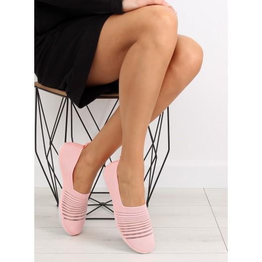 Športové topánky bez šnúrovania v ružovej farbe