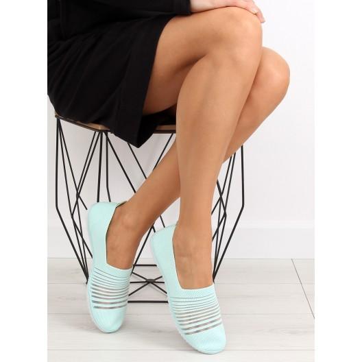Športová obuv bez šnúrovania v zelenej farbe