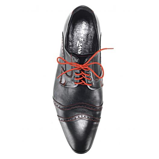 Pánske kožené spoločenské topánky čierne 534